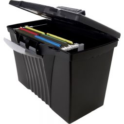 Storex File Box With Top Organizer Letter/Legal Black