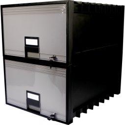 Storex Plastic Storage Box Drawer Style With Lock Legal