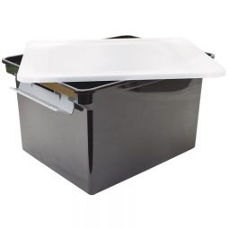 Storex Portable File Tote Letter/Legal With Lid