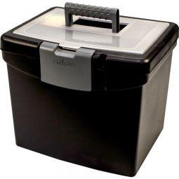 Storex® File Box with Top Organizer