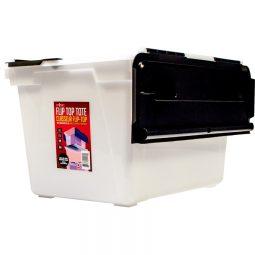 Storex® Flip Top Storage Tote