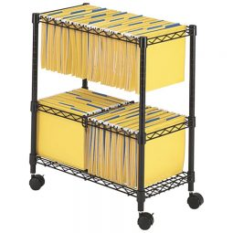 Safco Two Tier Rolling File Cart Letter/Legal