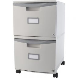 Storex 2-Drawer Plastic Vertical File With Casters Letter/legal