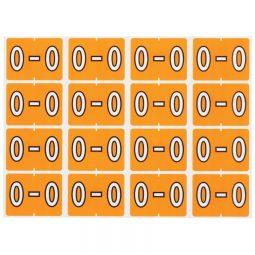 Pendaflex Labels O Light Orange