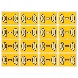 Pendaflex Labels Q Yellow