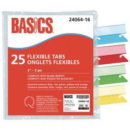 "Basics Flexible Tabs 2"" Assorted"