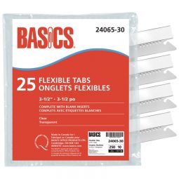 "Basics Flexible Tabs 3-1/2"" Clear"