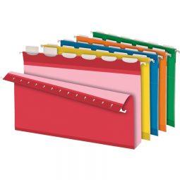 "Pendaflex Ready Tab Hanging Folder 2"" Capacity Assorted Legal"
