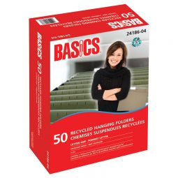 Basics® Recycled Hanging Folders
