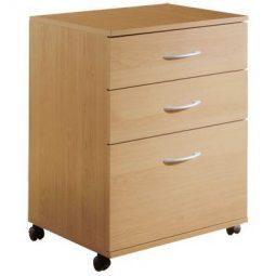 Nexera Mobile Pedestal 3 Drawers - Natural Maple
