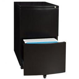 Mobile Pedestal2 drawers black finish