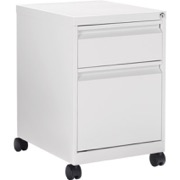 Office To Go Mobile Pedestal - White Metal