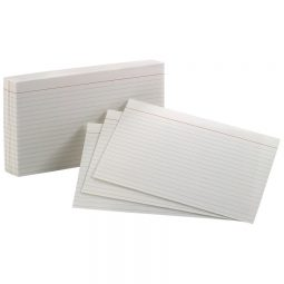 """Oxford Index Cards 5"""" X 8"""" Ruled White"""