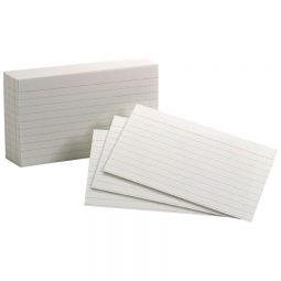 """Oxford Index Cards 3"""" X 5"""" Ruled White"""