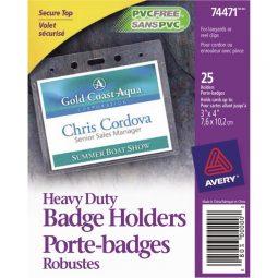 "Avery Badge Holder 3"" x 4"""