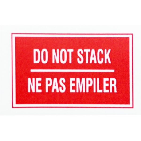 """DO NOT STACK 3X5"""" Label 500/Roll"""
