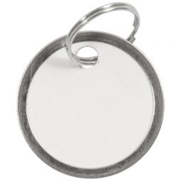 "Merangue Key Tags With Metal Ring 1-1/4"""
