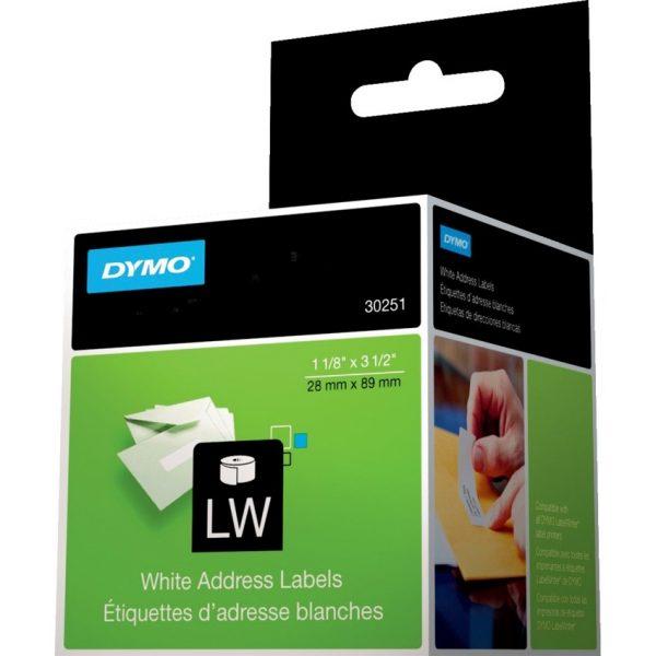 "Dymo Labelwriter Label 1-1/8"" x 3-1/2""."