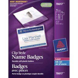 """Avery Name Badge Kit Clip Holder 3"""" X 4"""""""