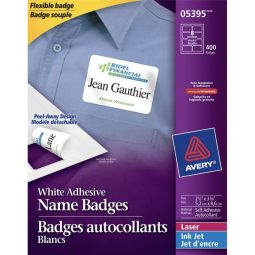 """Avery Name Badge Labels 3-3/8"""" X 2-1/3"""""""