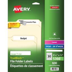 Avery® Trueblock Filing Labels