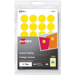 Avery® Removable Colour Coding Labels