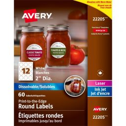 Avery® Dissolvable Round Labels