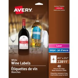 Avery® Water-Resistant Wine Labels