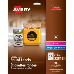 Avery® Glossy Clear Round Labels