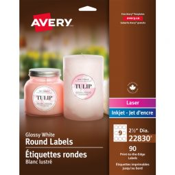 Avery® Print-to-the-Edge Round Labels
