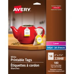 Avery® White Printable Tags with Strings