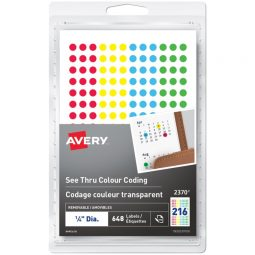 Avery® See Thru Removable Colour Coding Labels
