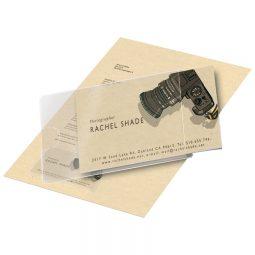 "Self-Adhesive Business Card Pockets 2-3/8"" X 3- 3/4"""