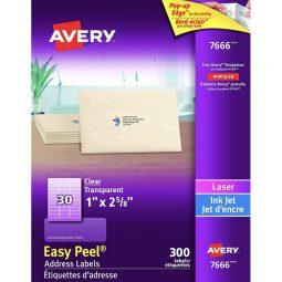 Avery® Easy Peel® Clear Labels