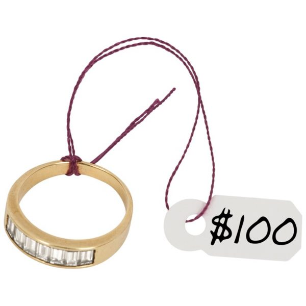 Tags Jewelry White 100/pkg Merangue