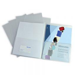 Winnable Twin Pocket Poly Portfolio Clear