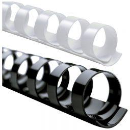 """Binding Combs 19 Rings 1/2"""" Black"""