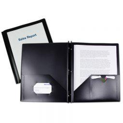 Viewfolio Poly Report Cover Black. 12/box.