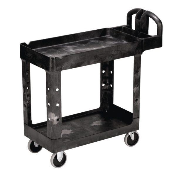 Rubbermaid Janitor Cart Black
