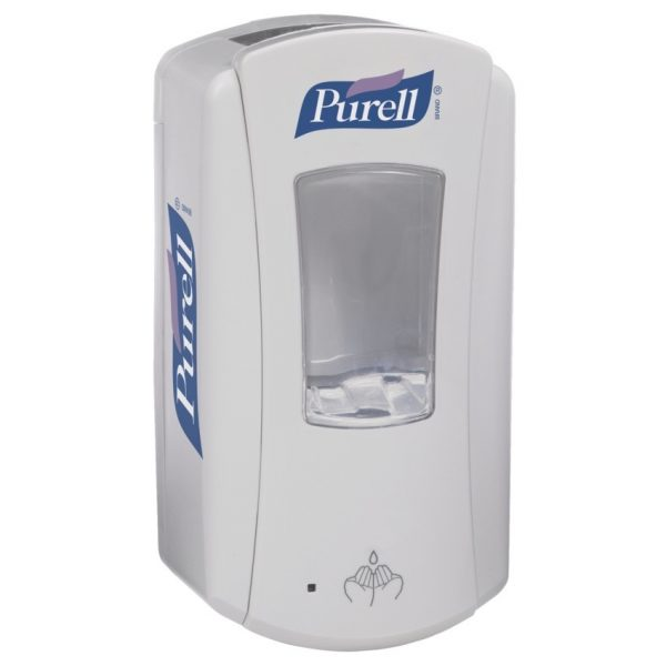 Purell LTX-12 Automatic Hand Sanitizer Dispenser. White/White