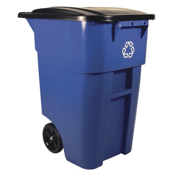 Rubbermaid® BRUTE® Rollout Recycling Container with Lid