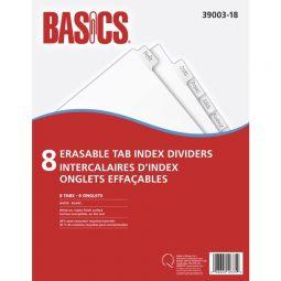 Basics® Erasable Tab Index Dividers