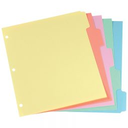 Oxford Plain Dividers 5 Tabs Coloured