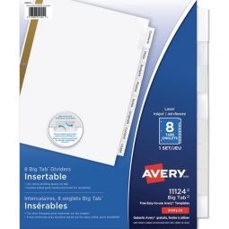 Avery Big Tab Index 8 Tabs With Clear Label