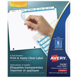 Avery Index Maker Index 5 Tabs