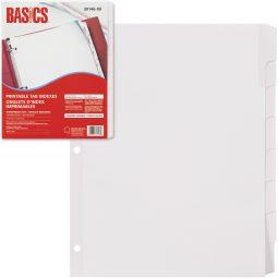 Basics index Laser Printable 8 Tabs White
