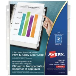 Avery Index Maker Index With Labels And Pockets 5 Tabs