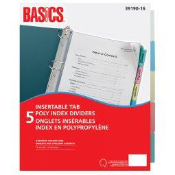 Basics Poly Index 5 Tabs