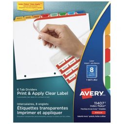 Avery Index Maker Index 8 Tabs