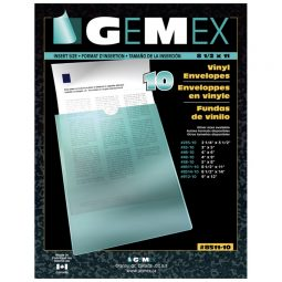 "Gemex Vinyl Pockets 5"" X 8"""
